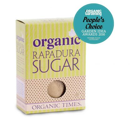 200 gram box of Organic Times Rapadura Sugar