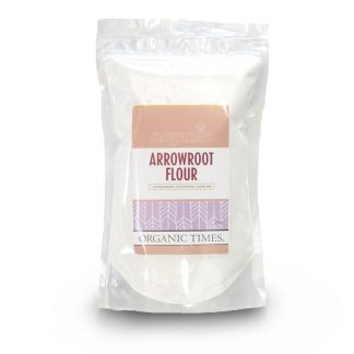 500 gram bag of Organic Times Arrowroot Flour
