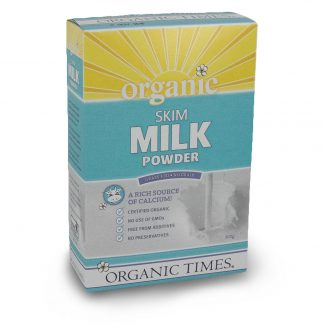 300 gram box of Organic Times Skim Milk Powder