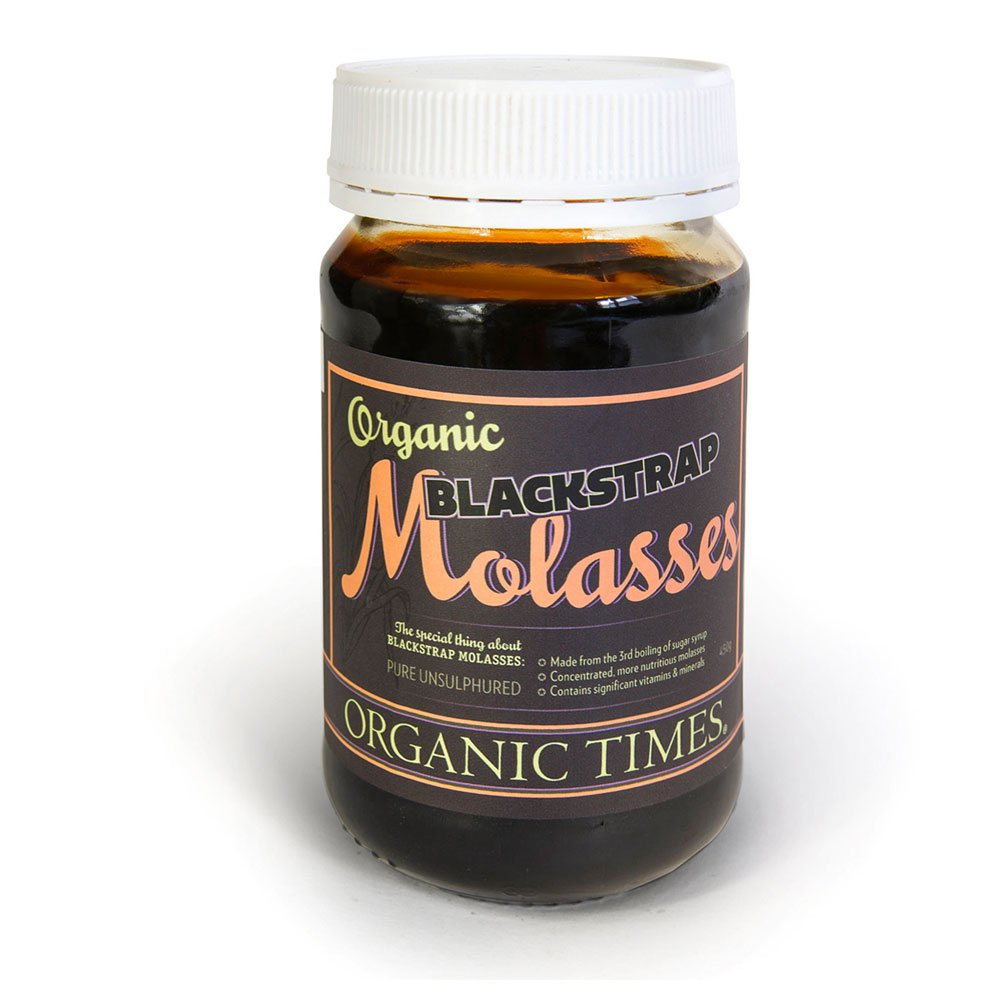 A 450 ml Jar Organic Times Blackstrap Molasses