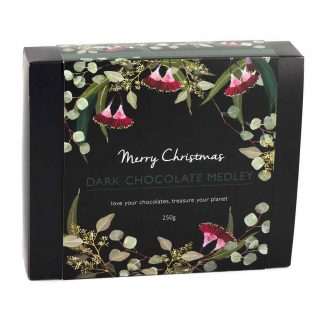 An Organic Times Dark Chocolate Medley Christmas Gift Box