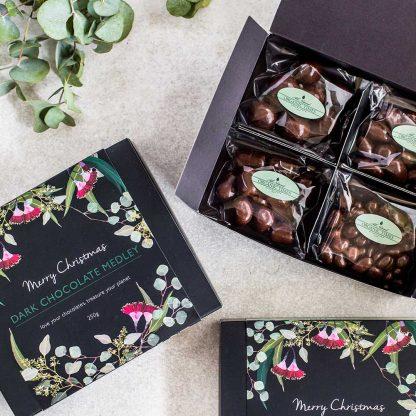 3 Organic Times Dark Chocolate Christmas Medley Gift Boxes