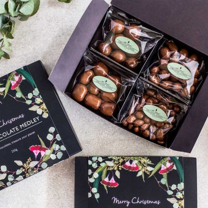 3 Organic Times Milk Chocolate Christmas Medley Gift Boxes