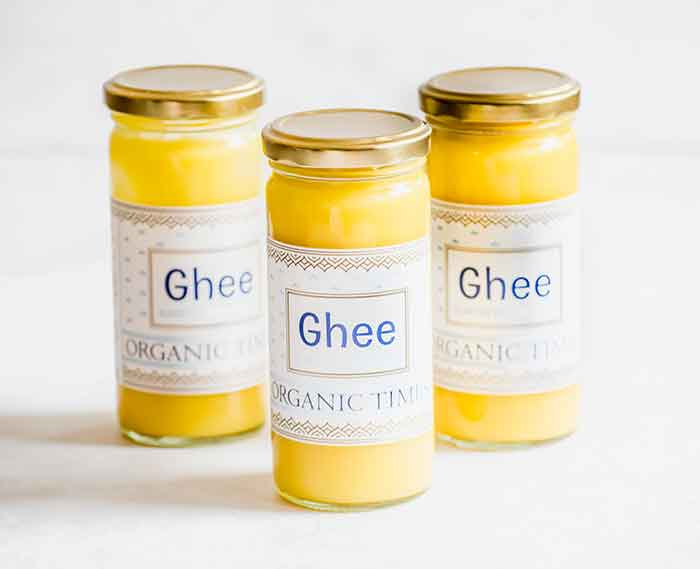 3 jars of Organic Times Ghee