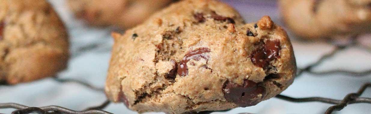 A tray of mocha choc drops cookies