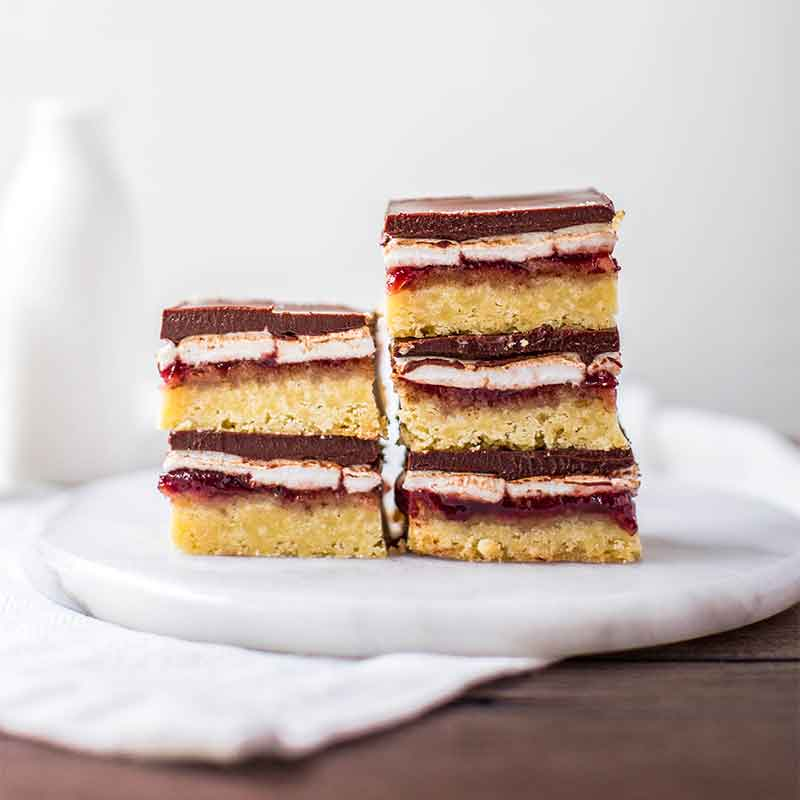 A stack of homemade Wagon Wheel slices