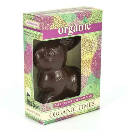 An Organic Times Dark Chocolate Easter Bunny