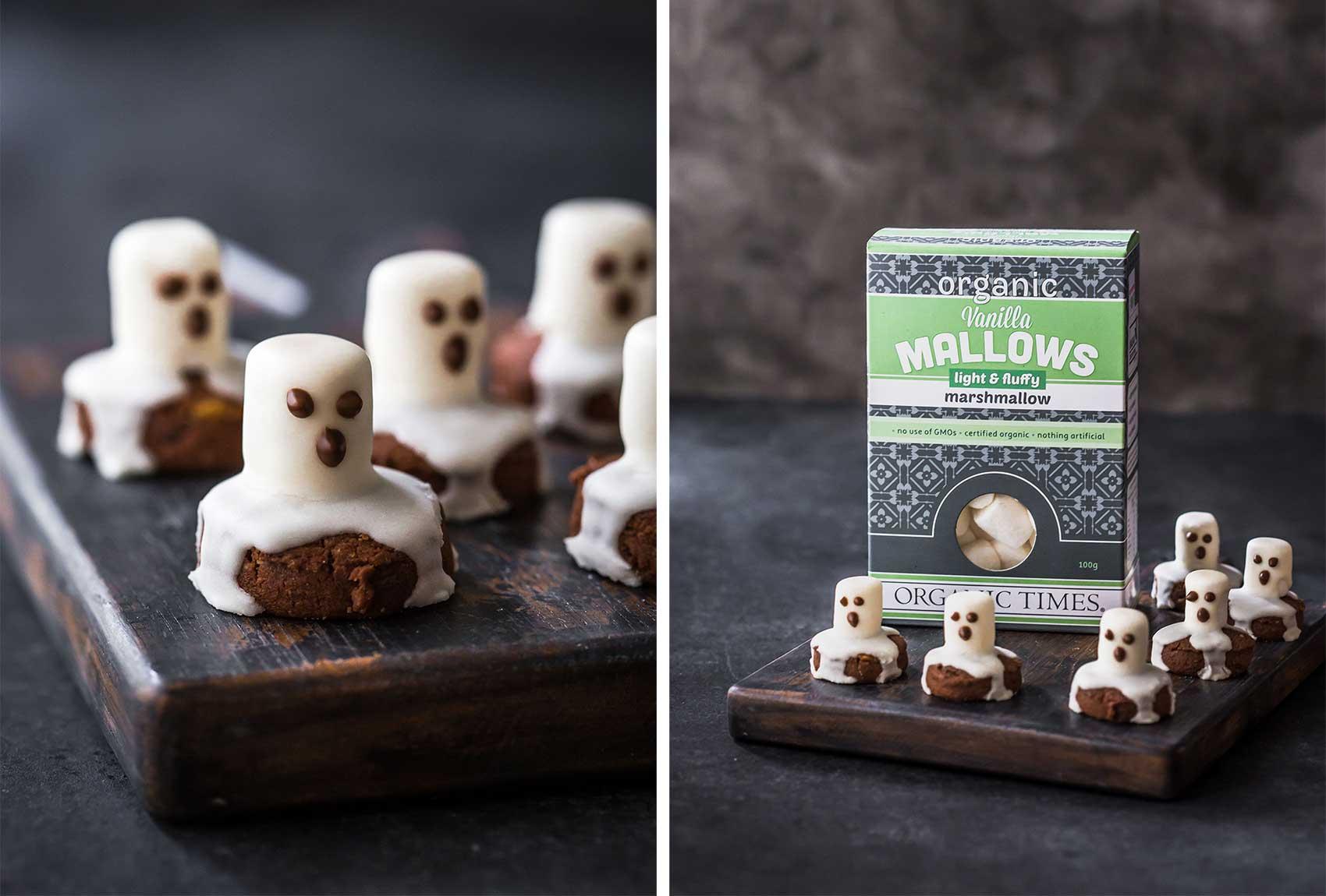 Marshamllow Ghost Cookies