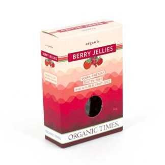 a box of organic times berry jellies