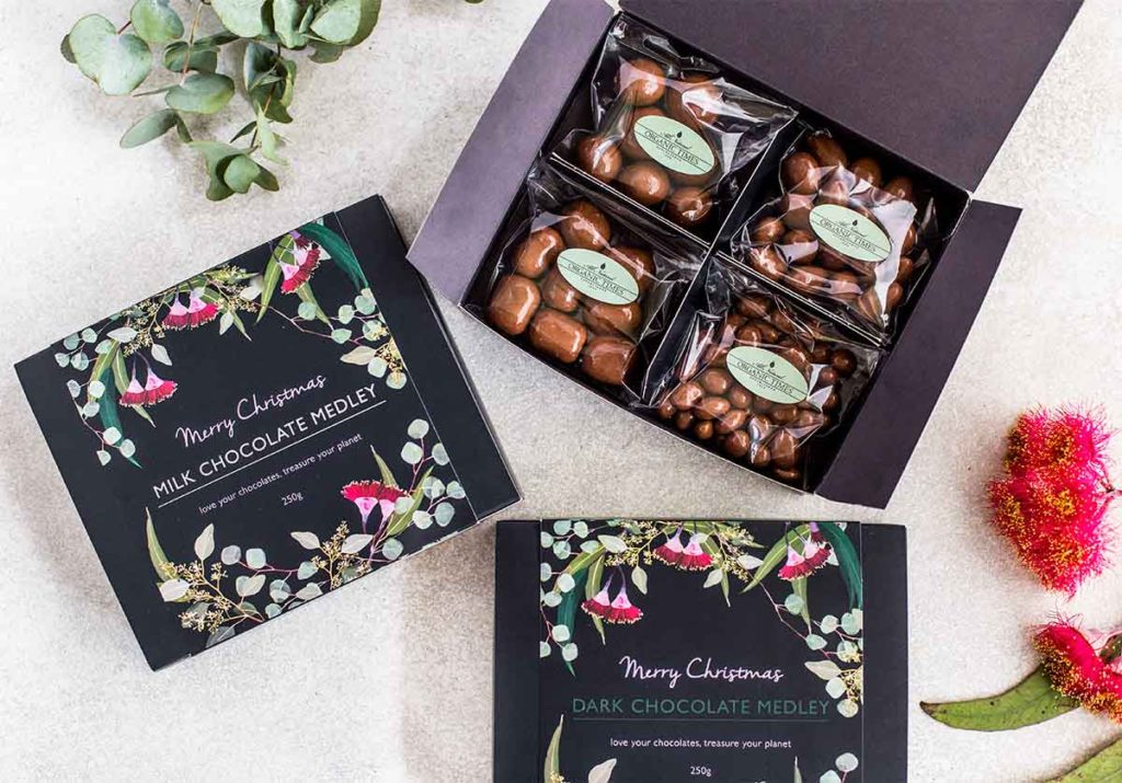 Organic Times Christmas Chocolate giftboxes
