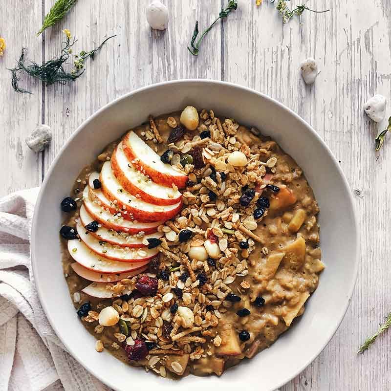 A bowl of organic times oats recipe