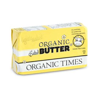 Organic Times grass-fed salted butter pat