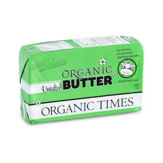 Organic Times grass-fed unsalted butter pat