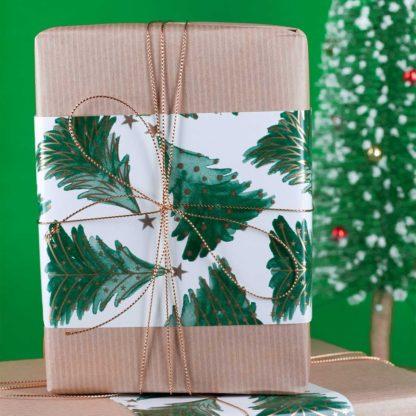 a christmas present and christmas tree