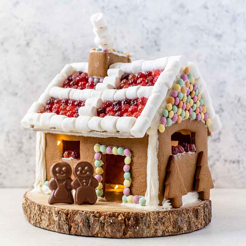Organic Times gingerbread house