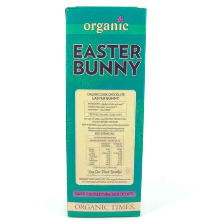 Organic Times Dark Chocolate Easter Bunny box