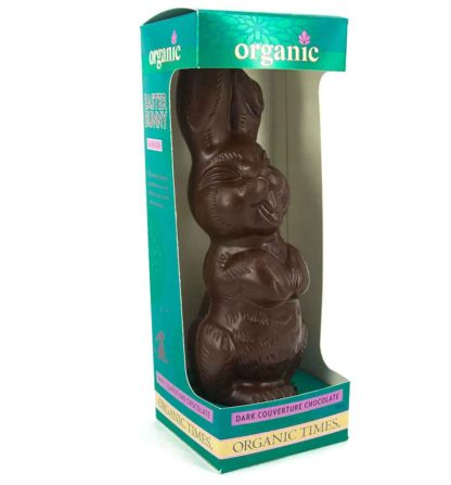 Organic Times Dark Chocolate Easter Bunny in a box
