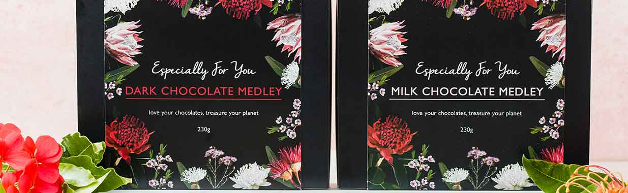 2 boxes of Organic Times Chocolate Medleys