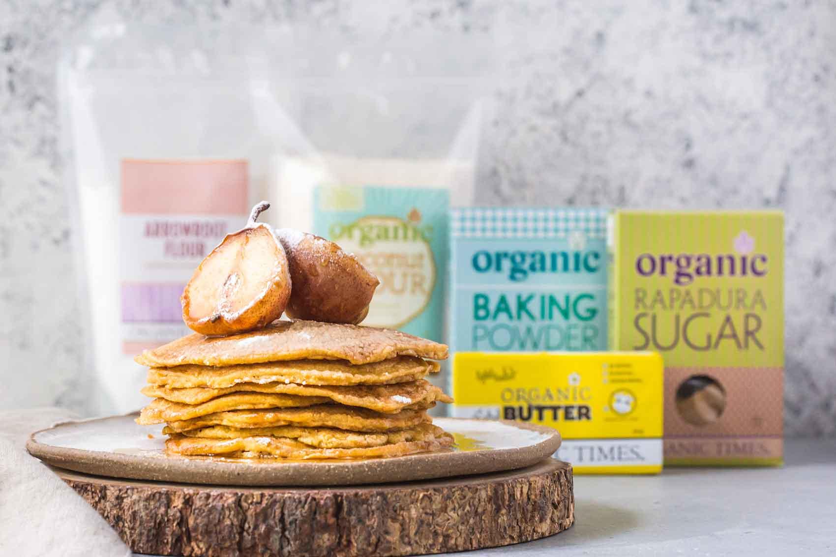 Organic Times pancakes recipes ingredients