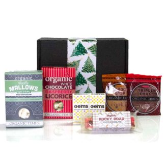 Christmas hamper with Organic Times treats