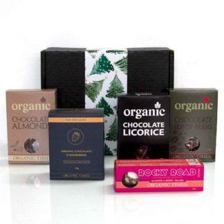 Christmas Hamper with Organic Times milk chocolates