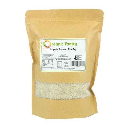 a bag of organic basmati rice