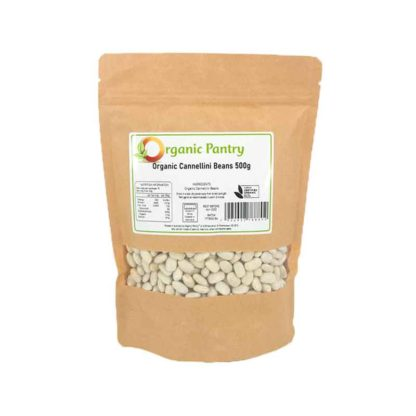 a bag of organic cannellini beans
