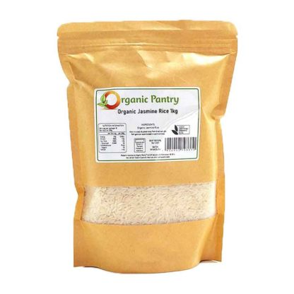 a bag of organic jasmine rice