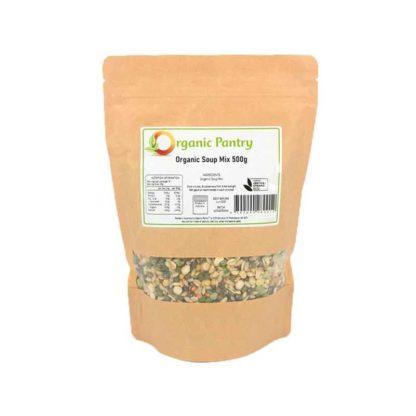 a bag of organic soup mix
