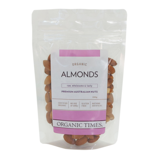 bag of Australian organic raw almonds