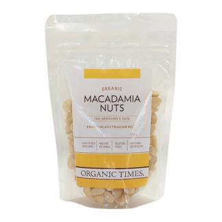 a bag of Australian raw organic macadamias